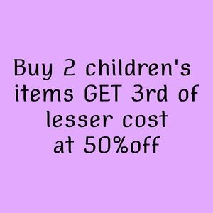 Other - Buy 2 Get 1 50% off